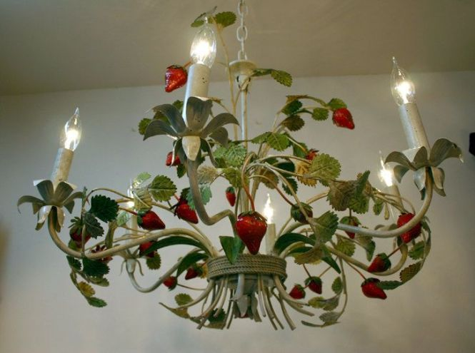 Italian Tole Chandelier Strawberry Oh I Want This