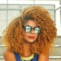 honey blonde color. honey blonde curls. natural hair and ...