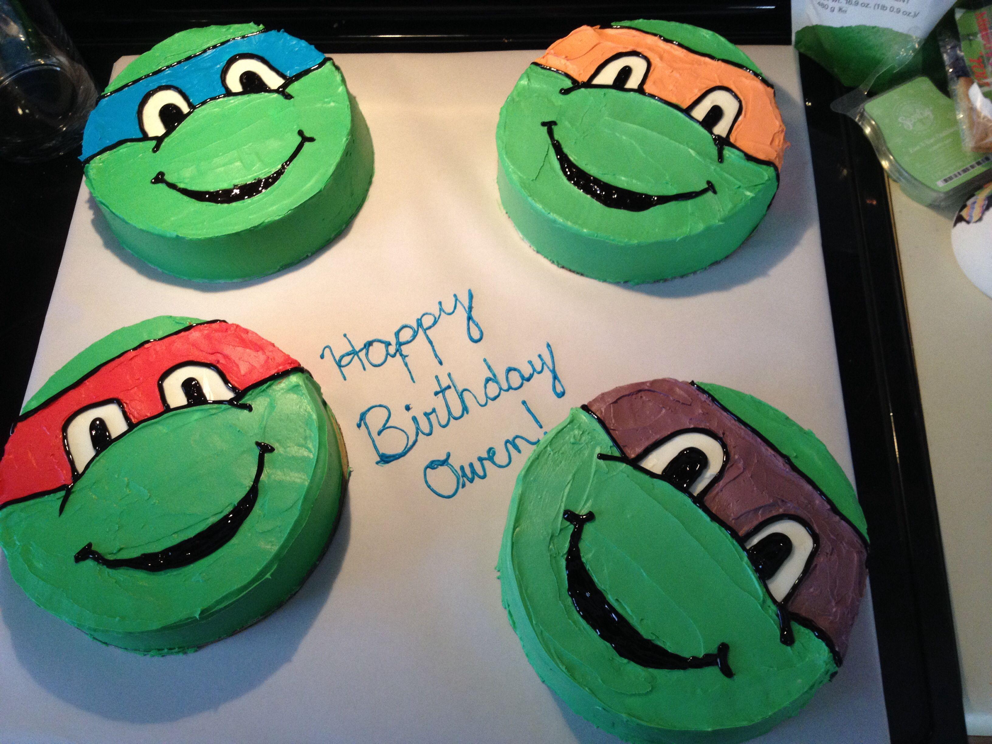 Owen S 5th Birthday Cake Tmnt