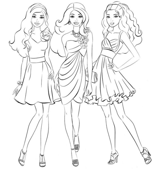 Contemporary Barbie Coloring Pages For Girls Photos - Professional ...
