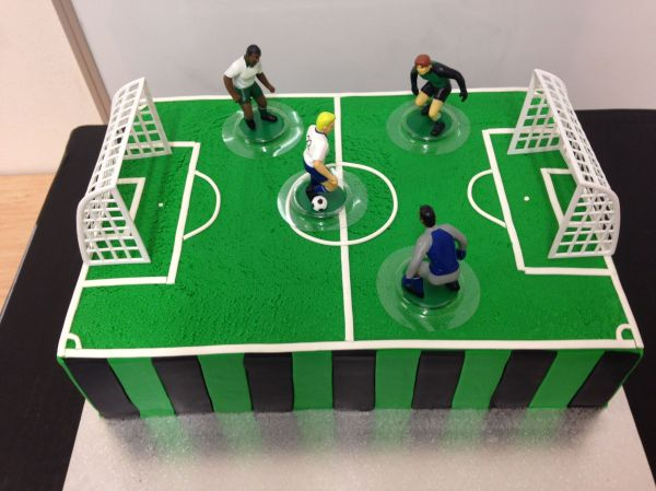 Soccer Field Birthday Cake