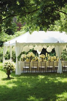 Classic White Wedding Ideas Marquee Decoration Details