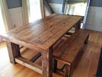 Rustic Extension Table with Bench | Rustic Grain | Dining ...