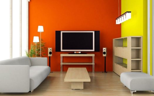 Interior Styles Of Design With Two Color Combinations Wall Paint Latest