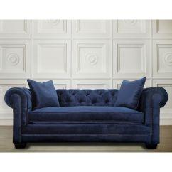 Blue Velvet Sofa Living Room Ideas Leather Recliner Furniture Modern Luxury