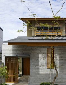 Architecture japanese modern house design face of with nature living concept also best images about on pinterest joinery rh