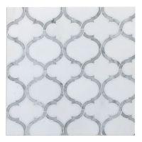 Marrakech Arabesque Lantern Mosaic Tile Carrara & Thassos