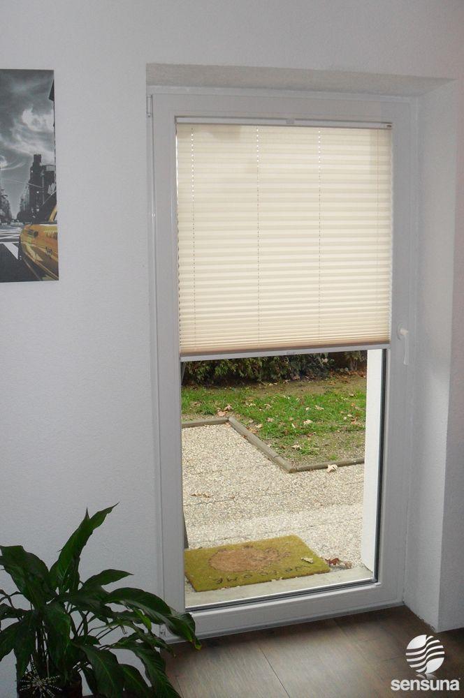 Tür Zum Garten Mit Sichtschutz Plissee Von Sensuna® GARTEN