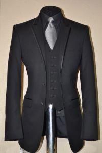 Black With Silver Vest Tie | groom tux silver vest silver ...