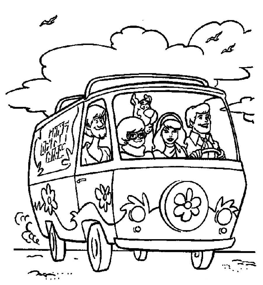 Scooby Doo Van Coloring Pages By Brandon Dizájn Pinterest