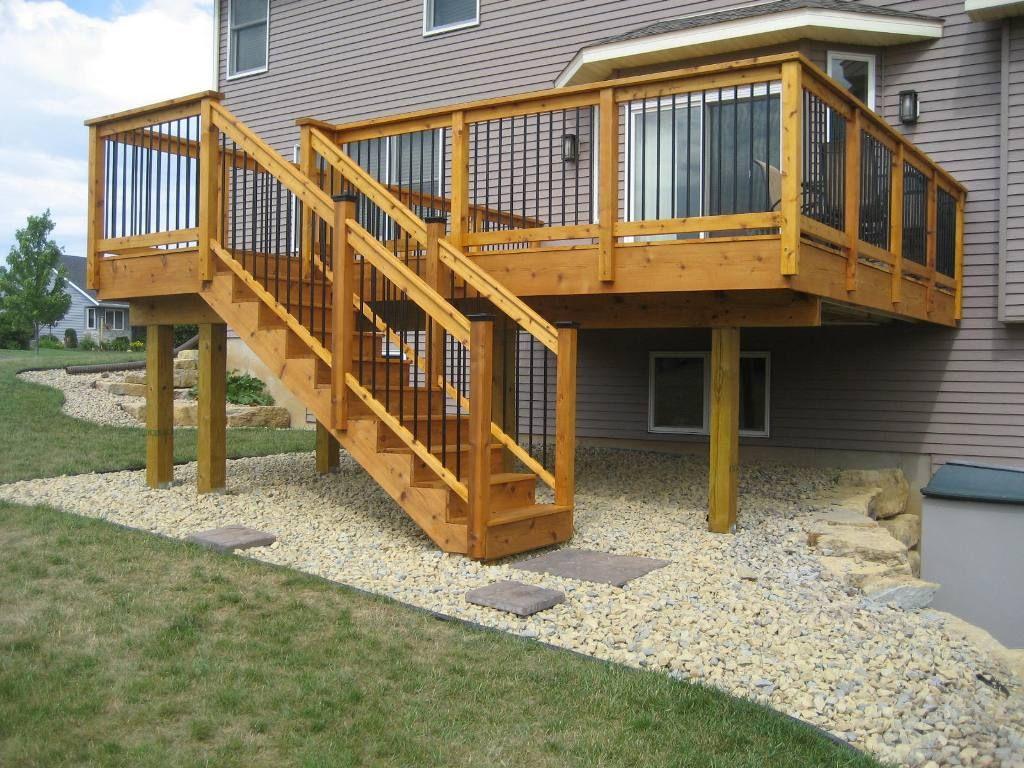 Deck Stair Railing Design Ideas Visit many Deck Railing Ideas httpawoodrailingcom20141116