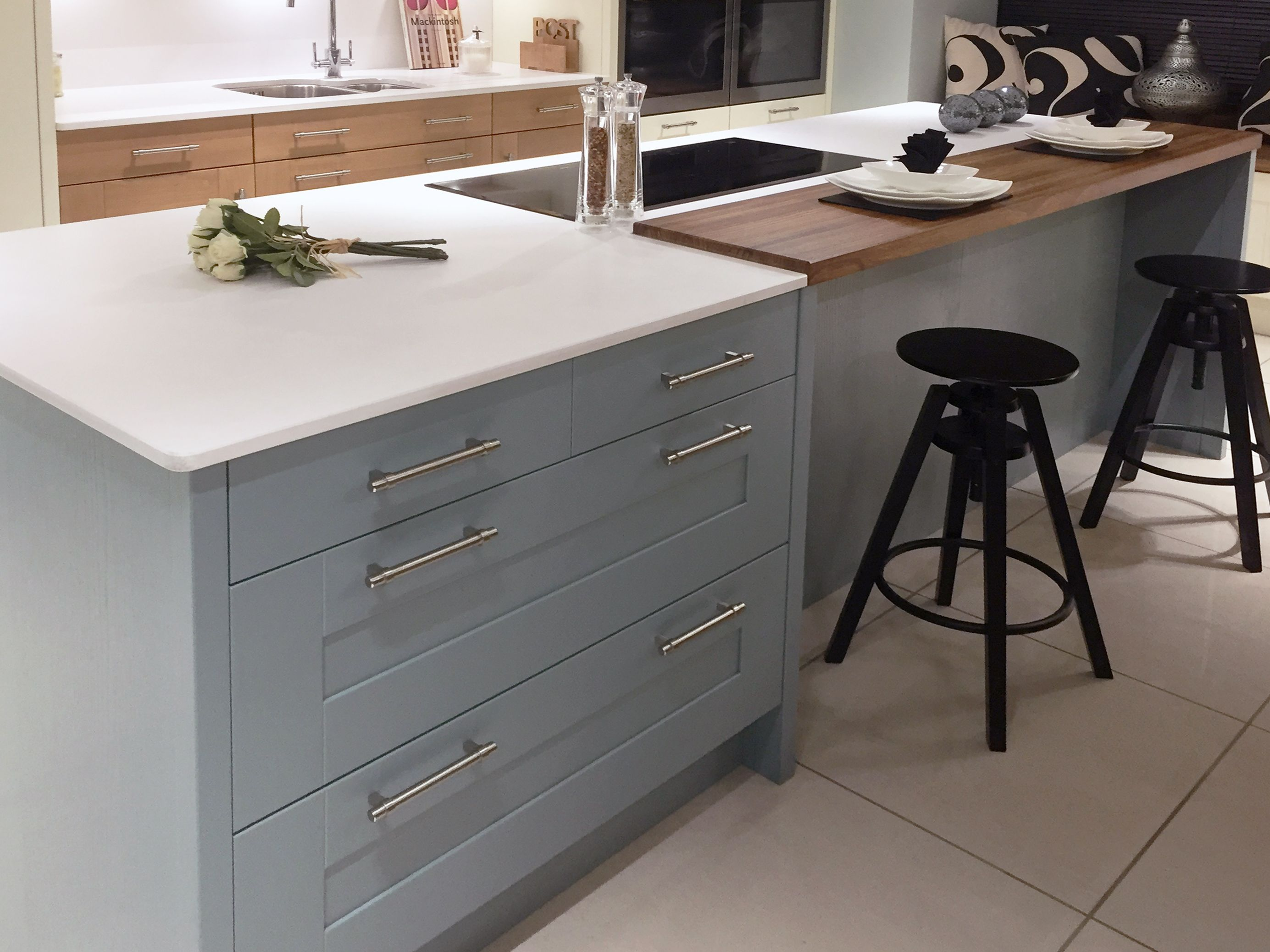 contemporary kitchen island build outdoor design with painted blue