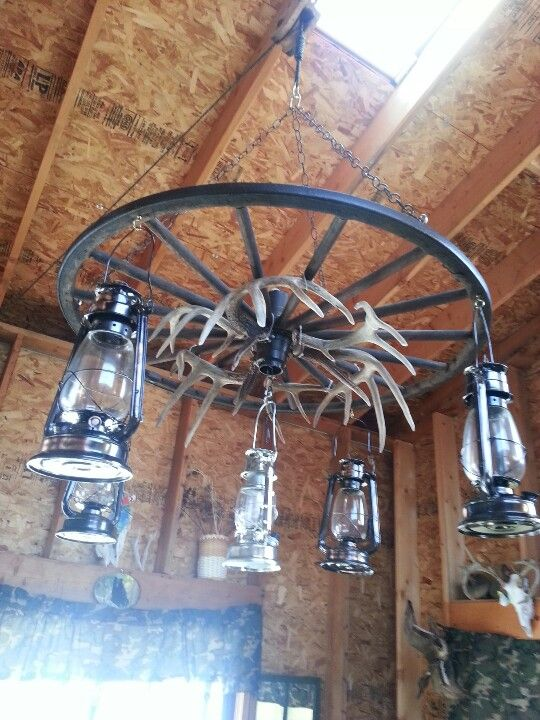 Wagon wheel light  things weve made  Pinterest  Wagon