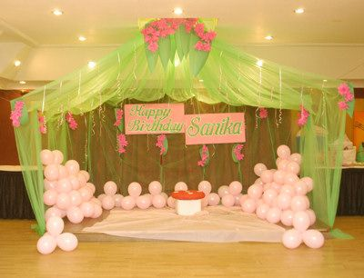 Like The Green Drapery Idea Fairy Birthday Party Ideas