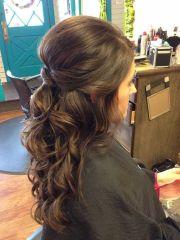 curly updos weddings