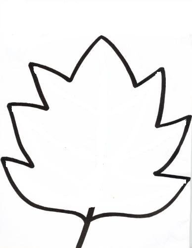 Herfstblad voor decoratie in de klas of voor de