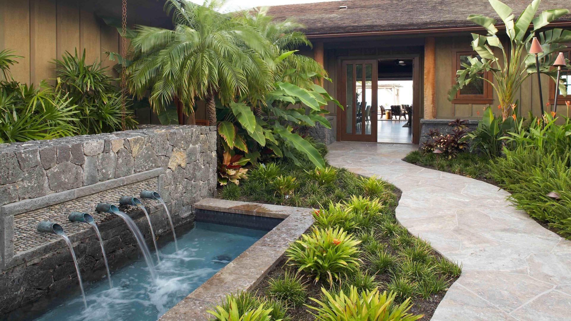 1920x1080 Beautiful Hawaiian Zen Garden With Waterfall And