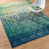 Skye Monet Blue Cascade Rug (5'2 x 7'7) - Overstock ...