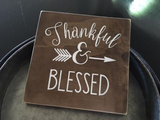 Thankful Blessed Handmade Sign Home Decor Rustic Kitchen
