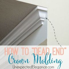 Chair Rail End Cap Sloping Arm Dining How To Dead Crown Molding | Crown, Walls And Moldings