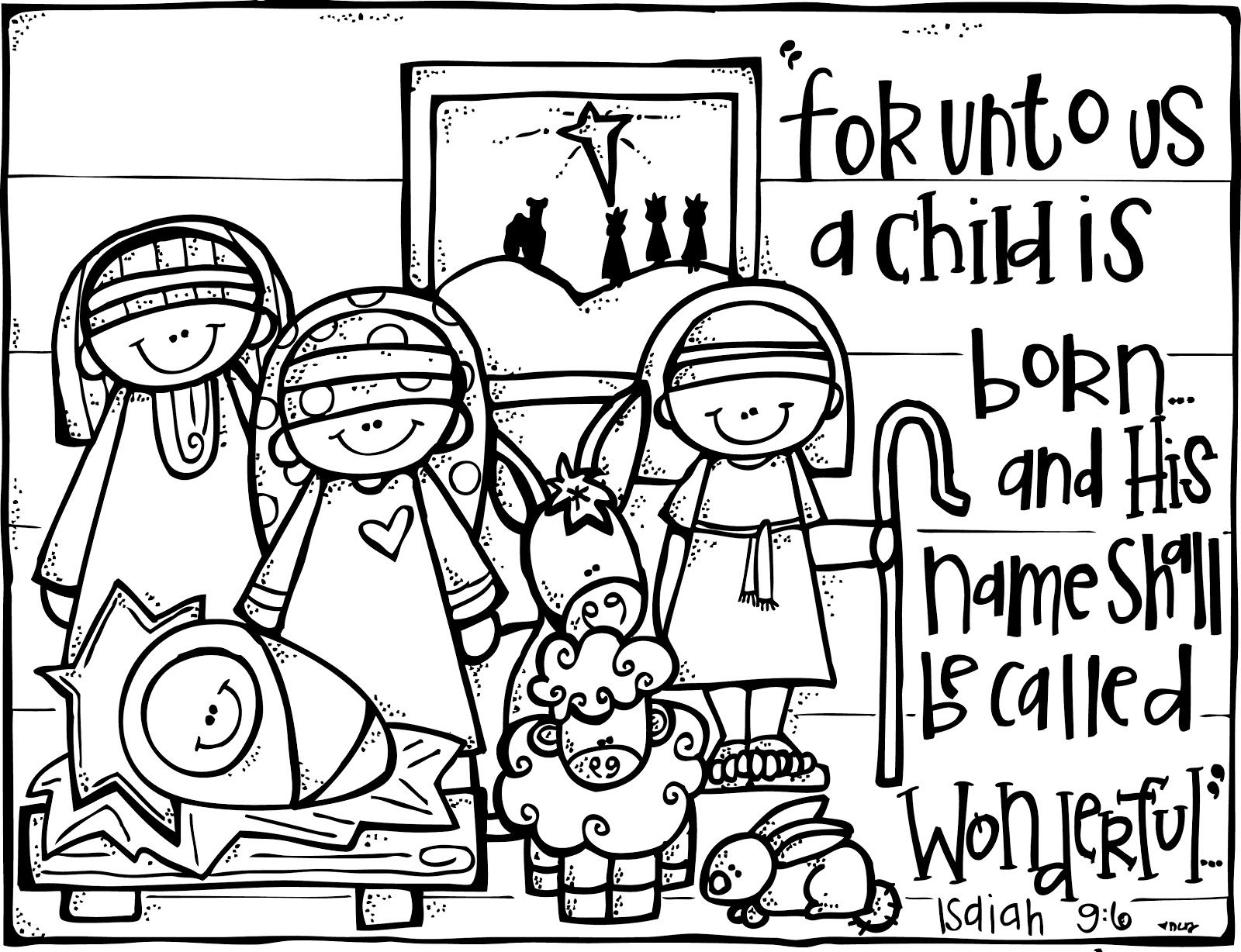 Christian Christmas Shepherds Coloring Pages