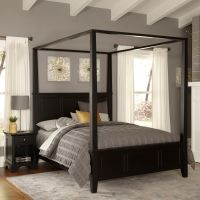 Bedford King Canopy Bed and Night Stand by Home Styles by ...