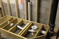 raised bathroom | The first step in building the raised ...