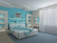 Teal Blue White Bedroom And Stunning Wall Paneling 29 ...