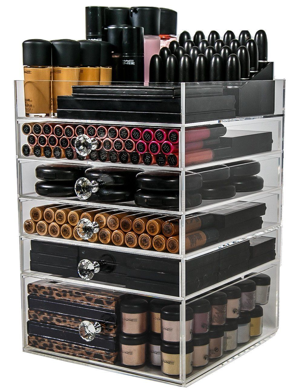 Amazoncom Acrylic Makeup Organizer Cube  5 Drawers