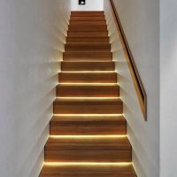 led strip stair lights
