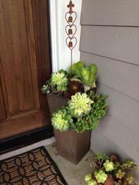 Succulent Front Door Planters | DIY Succulent Landscaping ...