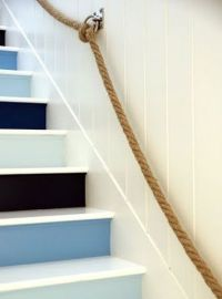 Rope nautical stair rail | Stairs | Pinterest | Stair ...