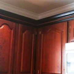 Kitchen Cabinet Trim Installation Gray Backsplash Wrong Door Style And Color But