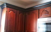 Kitchen cabinet trim. Wrong door style and color, but