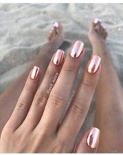 pinkish chrome nails nailsss