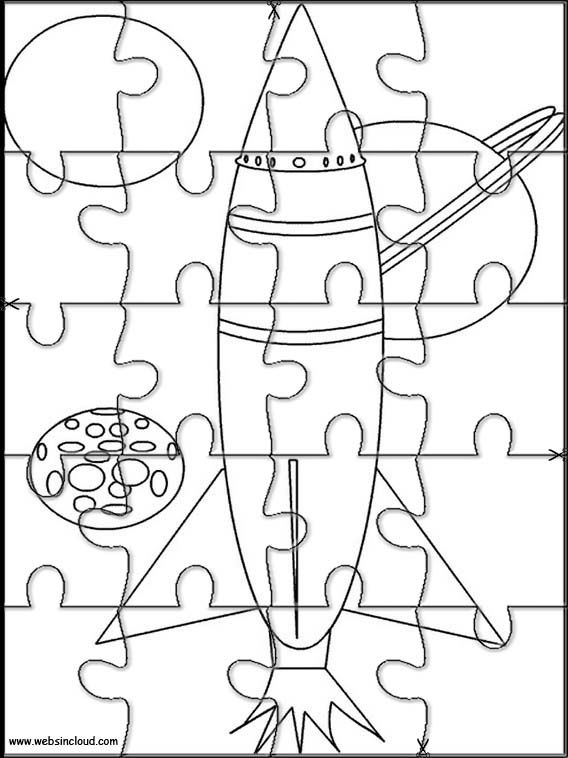 Printable jigsaw puzzles to cut out for kids Space 2