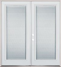 Internal mini-blind french patio doors. Go from full view ...