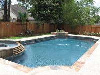 rectangle pools with spas | natural pool designs ...