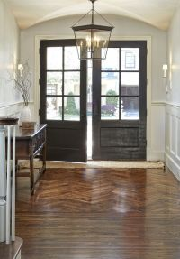 Double front door with paneled windows and gorgeous ...