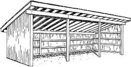 Horse Shelter Plans Simple Farm Building Do-it-Yourself