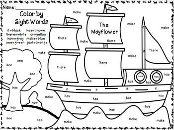 Color by Sight Words ~PLUS sight word sentence writing