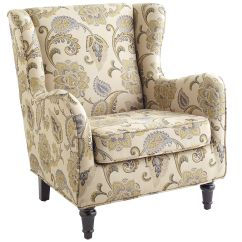 Alec Wing Chair Blue Plush Saucer Moon Claudio Jacobean 379 Home Sweet