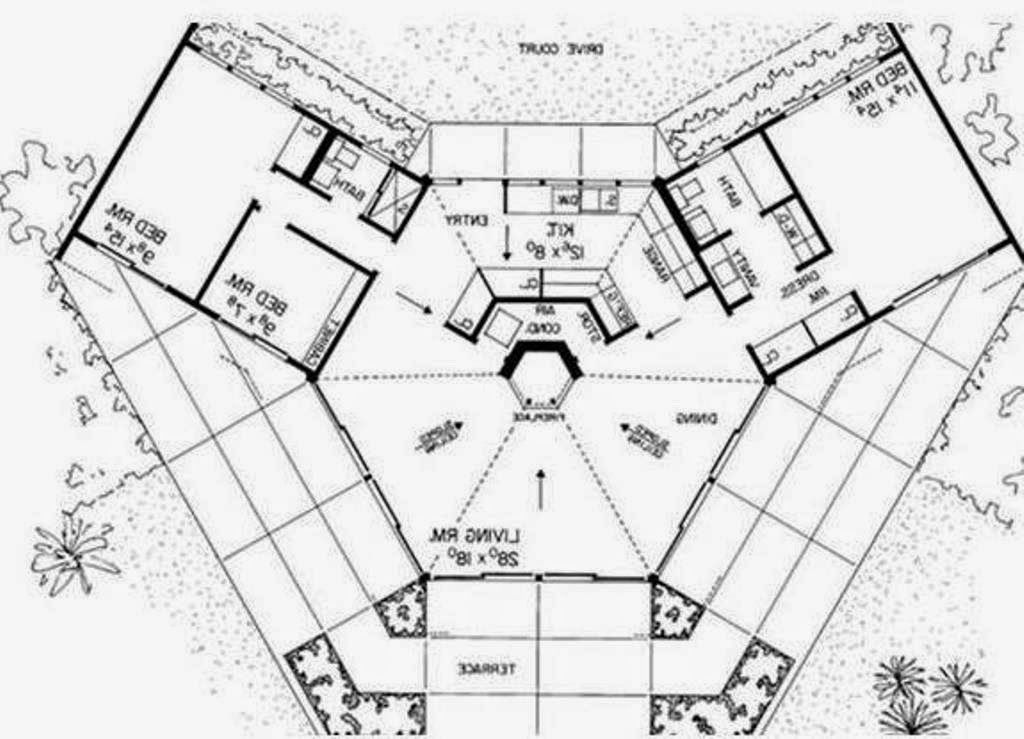 dream house bio octagon earth ship style plans home with