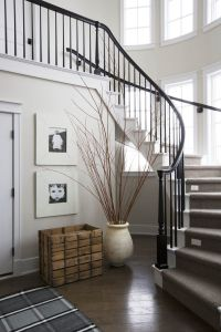 Curved staircase, black and white | Interiors - Entryways ...