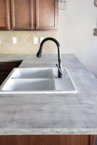 DIY Feather Finish Concrete Countertops | Concrete ...