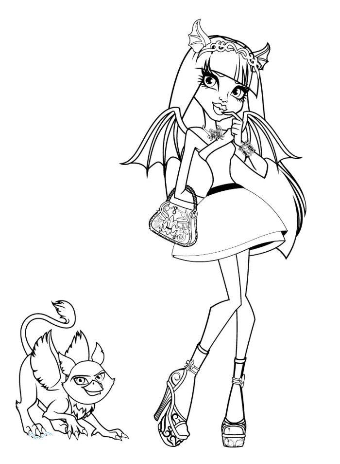 Ausmalbilder Monster High 69