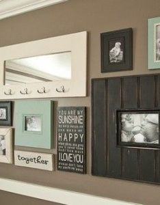 love to decorate with chalk paint it is so easy add color and sticks just about everything used on my photo wall the few blue picture also colored framed mirrors foter bilder konzepte pinterest frame rh
