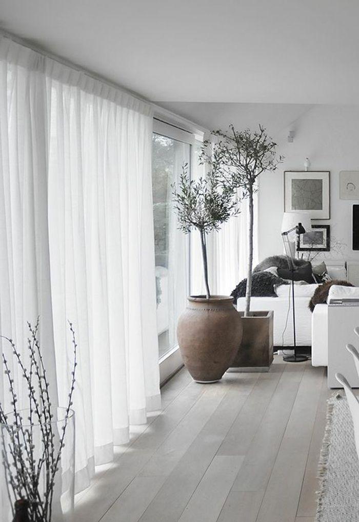 Wohnzimmer Vorhang Weiss