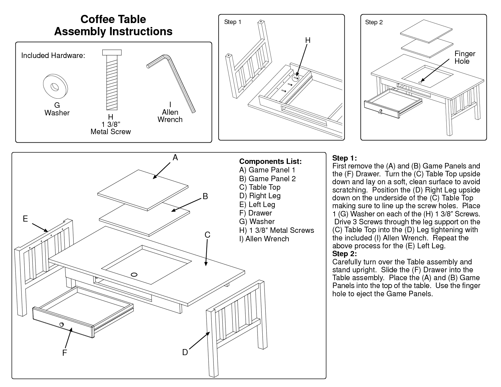 Hand tool woodworking magazines, Hemnes Coffee Table