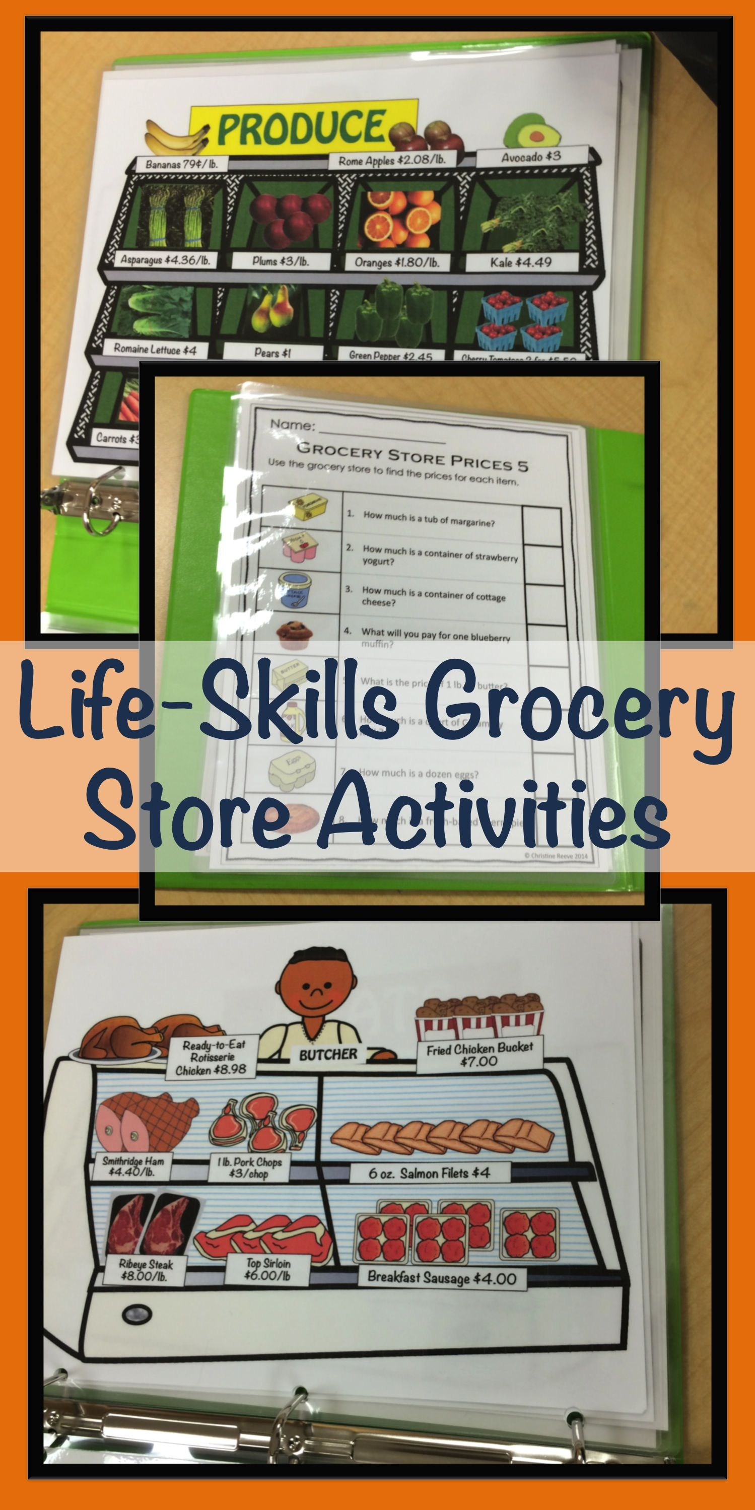 Special Education Grocery Store Activities For Functional Life Skills Autism